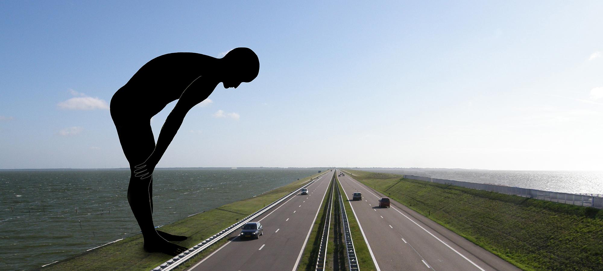 kunst openbare ruimte-Afsluitdijk-BlokLugthart