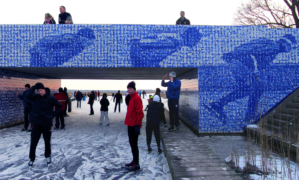 Kunst openbare ruimte Elfstedenmonument