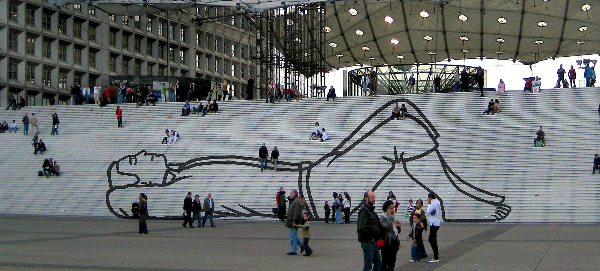 Kunst openbare ruimte-Parijs-BlokLugthart
