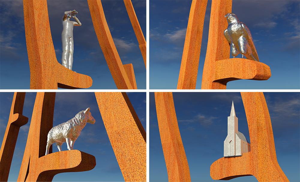 kunst openbare ruimte Texel kunstwerk Bloklugthart