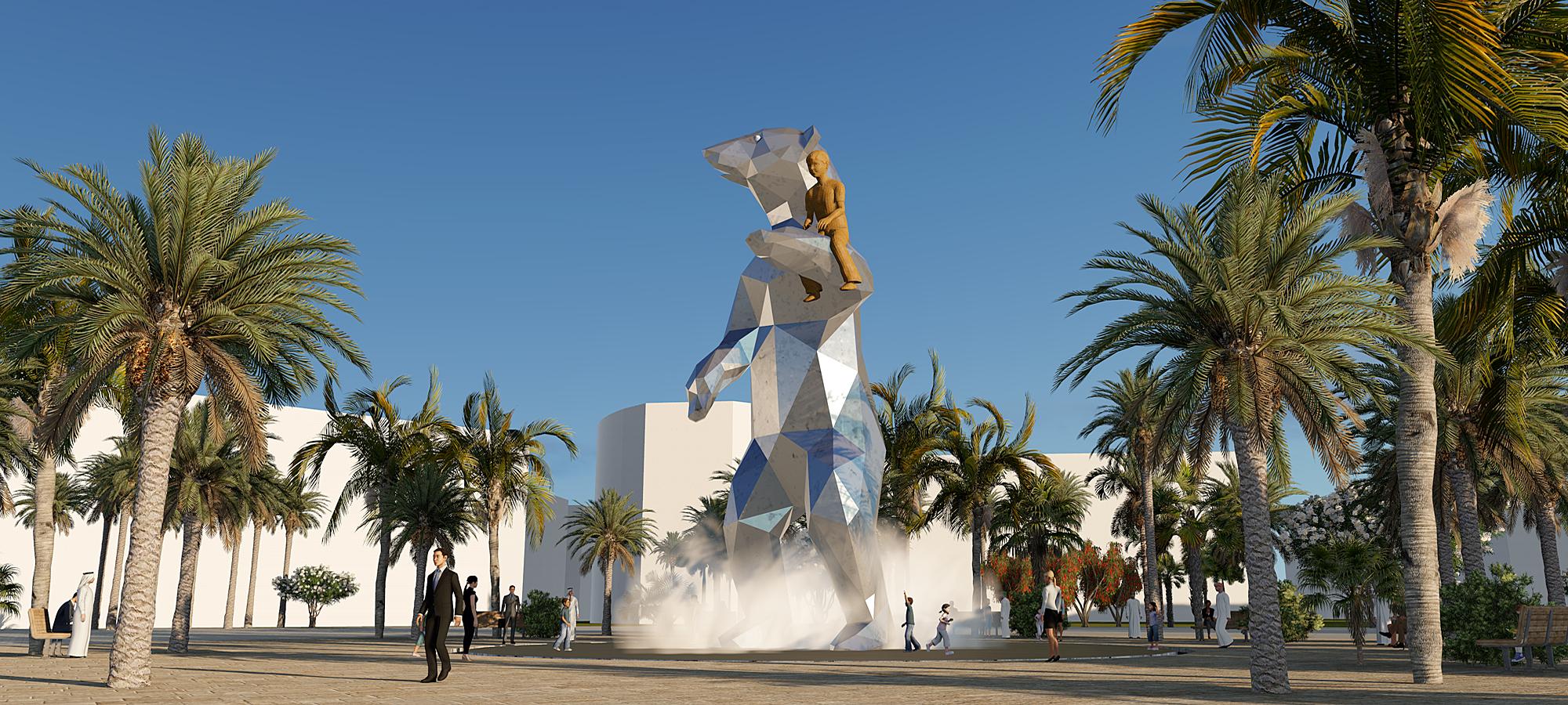 kunst openbare ruimte Abu Dhabi BlokLugthart
