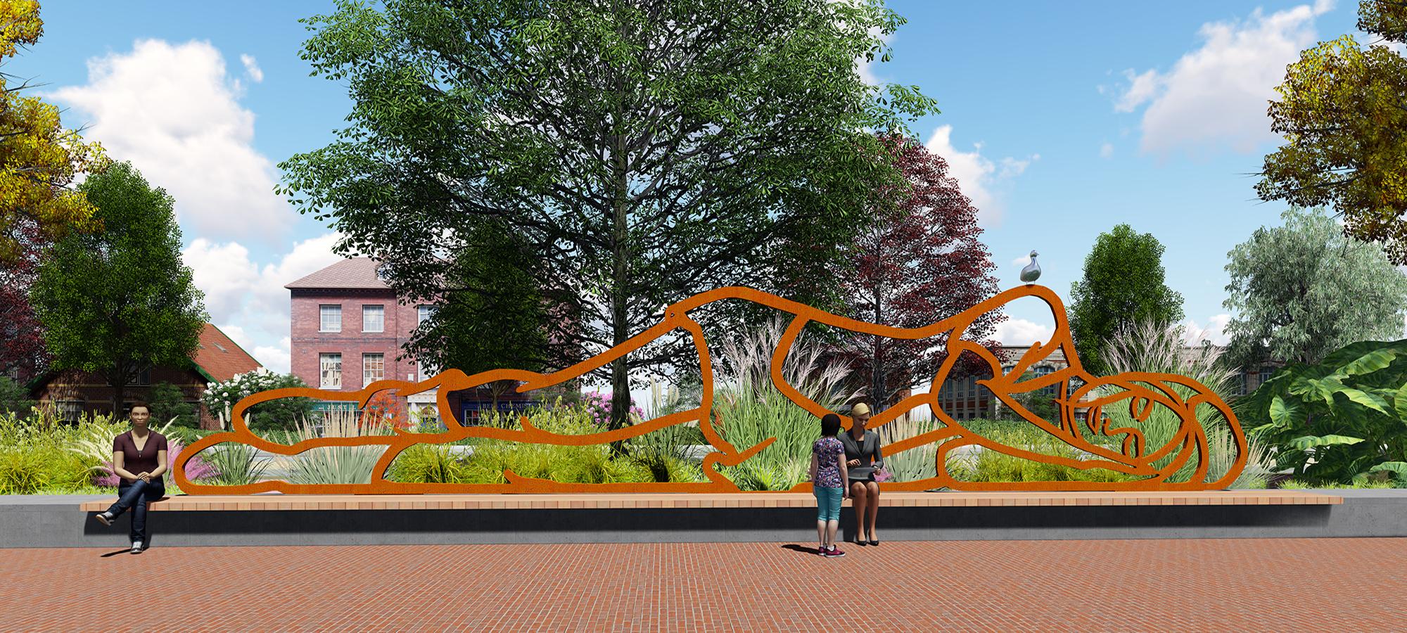 kunst openbare ruimte gemeente Diemen kunstwerk BlokLugthart