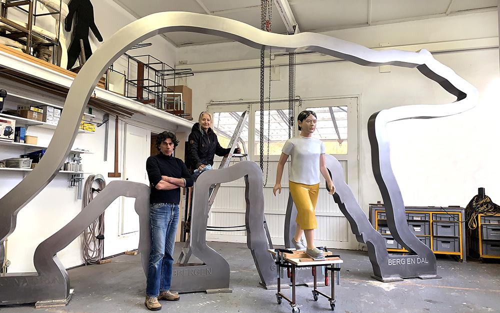 kunst openbare ruimte, Berg en Dal, BlokLugthart, kunst Groesbeek, bas lugthart, maree blok