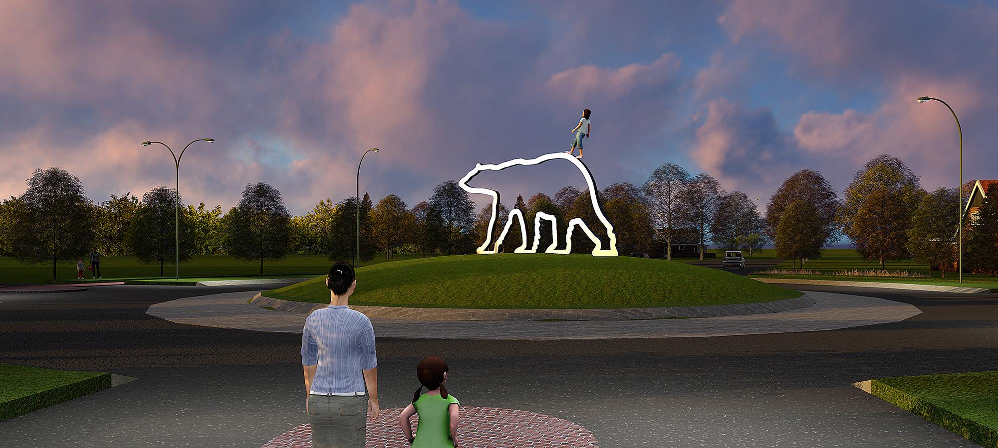 kunst openbare ruimte Berg en Dal,BlokLugthart,kunstwerk
